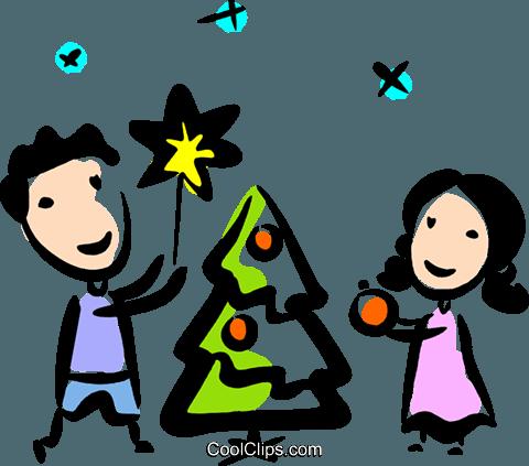 Dekorieren dem weihnachtsbaum vektor clipart bild vc070772 - Weihnachtsbaum vektor ...