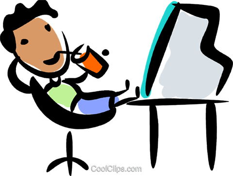 relaxing at desk royalty free vector clip art illustration vc070794 rh search coolclips com relaxing clip art free woman relaxing clipart
