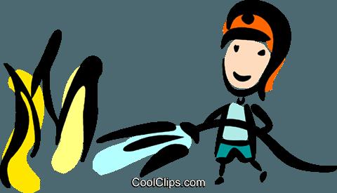 消防员 免版税矢量剪贴画插图