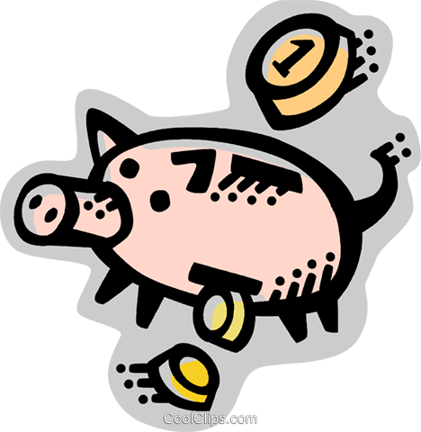 Piggy Banks Royalty Free Vector Clip Art illustration vc071602