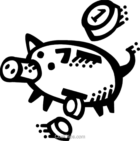 Piggy Banks Royalty Free Vector Clip Art illustration vc071603