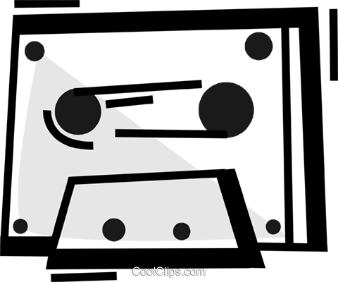 Cassette Tapes Royalty Free Vector Clip Art illustration vc072300