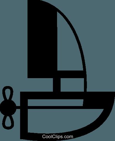帆船透明动漫素材