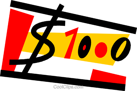 Dollars Royalty Free Vector Clip Art illustration vc073124