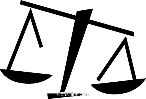 Scales of Justice Vektor Clipart Bild vc073203