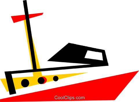 Yachts Royalty Free Vector Clip Art illustration vc073224
