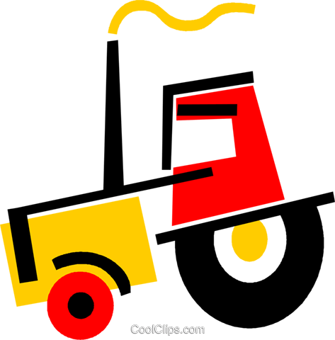 Tractors Royalty Free Vector Clip Art illustration vc073324
