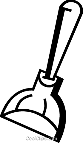 Toilet Plungers Royalty Free Vector Clip Art illustration vc074000