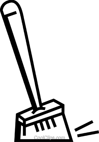 Brooms Royalty Free Vector Clip Art illustration vc074078
