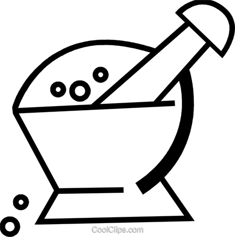 Mortar and Pestle Royalty Free Vector Clip Art illustration vc074176