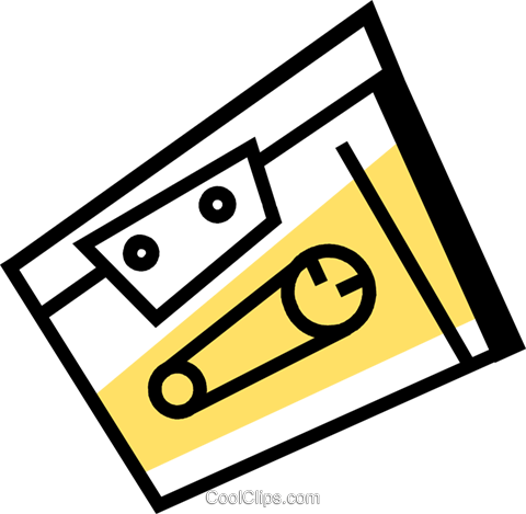 Cassette Tapes Royalty Free Vector Clip Art illustration vc074375