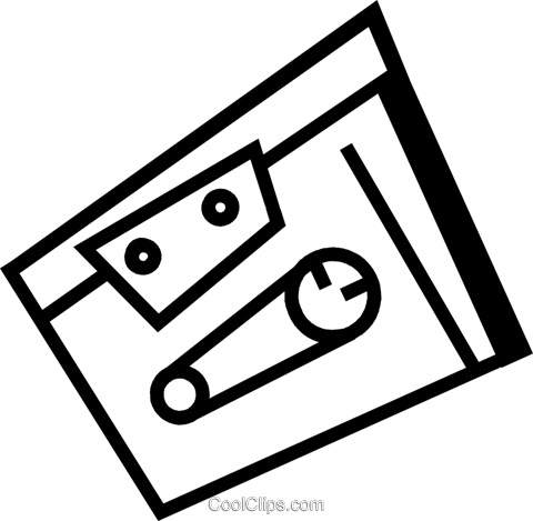 Cassette Tapes Royalty Free Vector Clip Art illustration vc074376