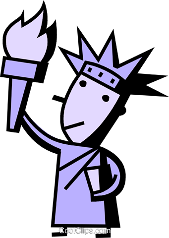 Statue of Liberty Royalty Free Vector Clip Art illustration vc074509