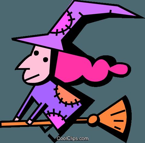 女巫 免版税矢量剪贴画插图