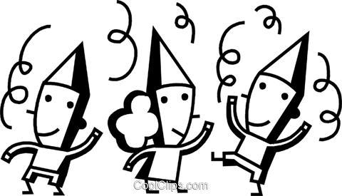 party celebrants Royalty Free Vector Clip Art illustration vc074648
