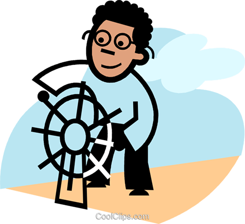 Captain's Wheel Royalty Free Vector Clip Art illustration vc074874