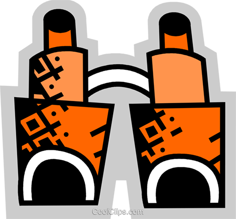 Binoculars Royalty Free Vector Clip Art illustration vc074945
