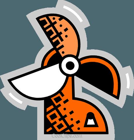 电扇 免版税矢量剪贴画插图