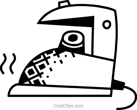 Irons Ironing Royalty Free Vector Clip Art illustration vc075054