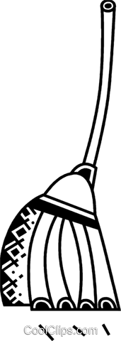 Brooms Royalty Free Vector Clip Art illustration vc075058