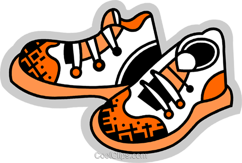 Running Shoes Royalty Free Vector Clip Art illustration vc075093