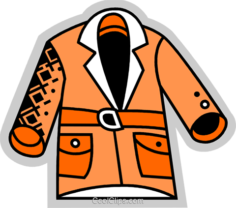 Coats and Jackets Royalty Free Vector Clip Art illustration vc075127