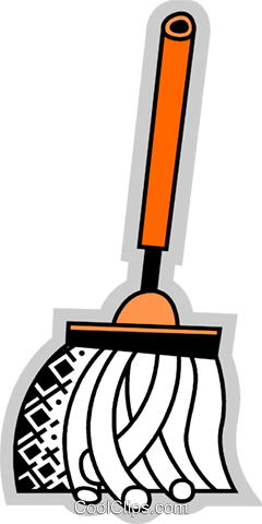 Mops and Pails Royalty Free Vector Clip Art illustration vc075199