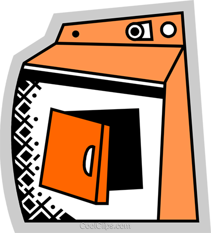 Clothes Dryers Royalty Free Vector Clip Art illustration vc075205
