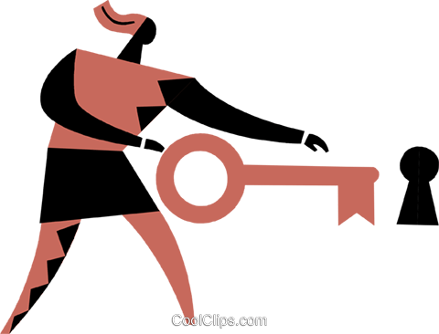 Keys and Locks Royalty Free Vector Clip Art illustration vc075294