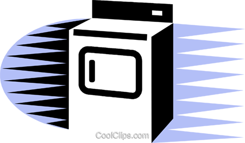 Washing Machines Royalty Free Vector Clip Art illustration vc075564