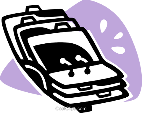rolodex Royalty Free Vector Clip Art illustration vc075648