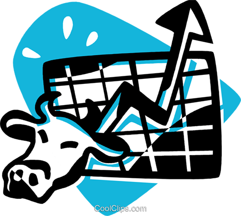 stock market concept Royalty Free Vector Clip Art illustration vc075676