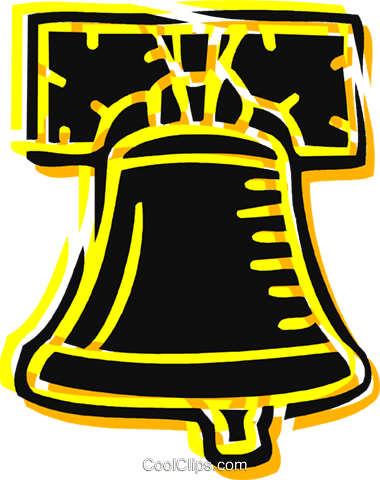 Liberty Bell Royalty Free Vector Clip Art illustration vc076439