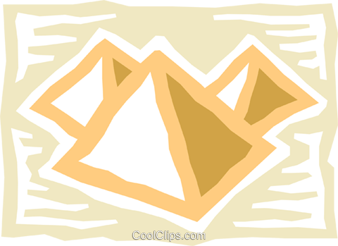 Pyramids Royalty Free Vector Clip Art illustration vc076959