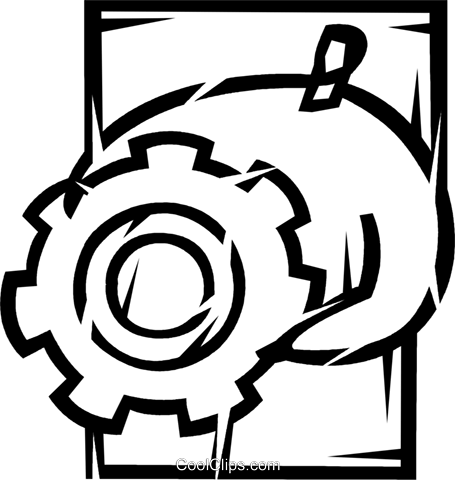 Gears Royalty Free Vector Clip Art illustration vc077149