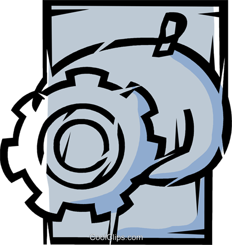 Gears Royalty Free Vector Clip Art illustration vc077150