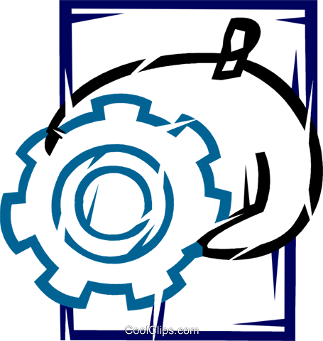 Gears Royalty Free Vector Clip Art illustration vc077151