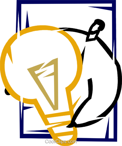 Idea Light bulbs Royalty Free Vector Clip Art illustration vc077163
