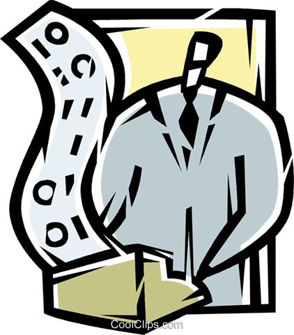 accountant Royalty Free Vector Clip Art illustration vc077188