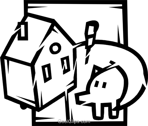 Mortgage and Loans Royalty Free Vector Clip Art illustration vc077197