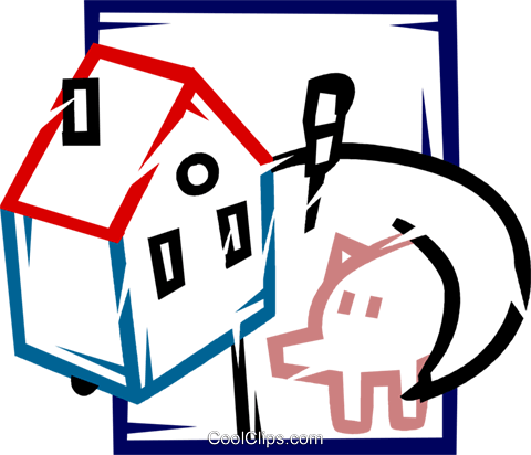Mortgage and Loans Royalty Free Vector Clip Art illustration vc077199