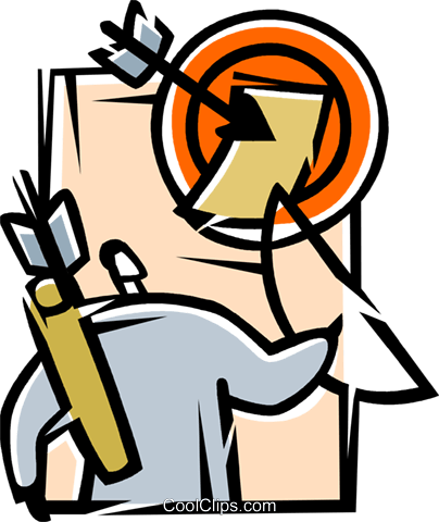 Archery Royalty Free Vector Clip Art illustration vc077204