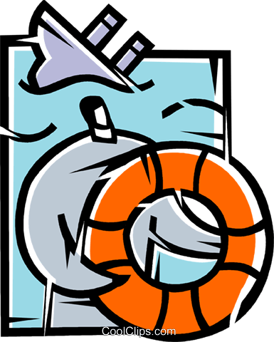 Life Vests and Preservers Royalty Free Vector Clip Art illustration vc077216