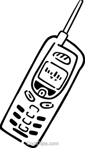 Cellular Wireless and Cordless Phones Royalty Free Vector Clip Art illustration vc077345