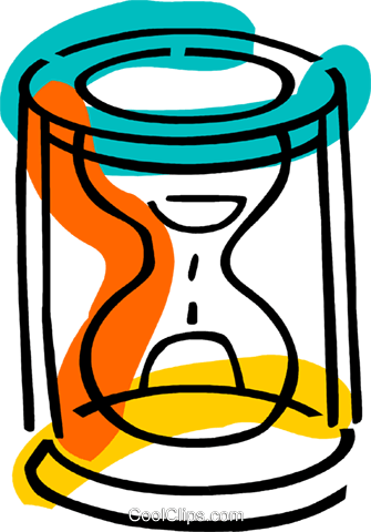Hourglasses Royalty Free Vector Clip Art illustration vc077348