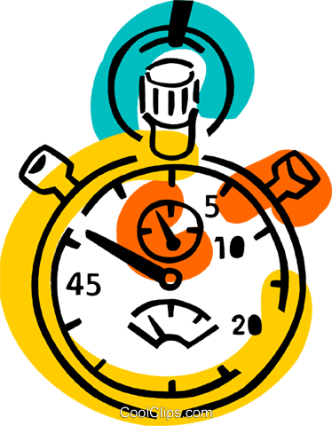 Stopwatches Royalty Free Vector Clip Art illustration vc077352