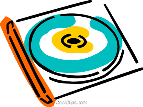 CD-ROM Media Royalty Free Vector Clip Art illustration vc077356