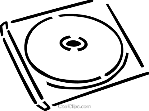 CD-ROM Media Royalty Free Vector Clip Art illustration vc077357