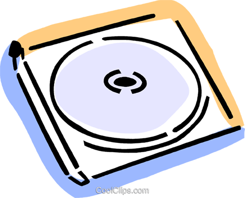 CD-ROM Media Royalty Free Vector Clip Art illustration vc077358