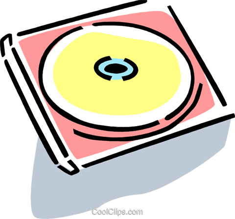 CD-ROM Media Royalty Free Vector Clip Art illustration vc077359
